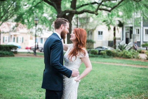 Jessica & Michael - Dress by Theia from Lovely San Francisco - Photo by Apt. B Photography