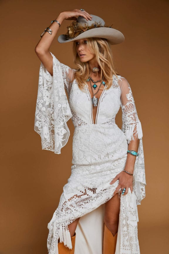 Rue de Seine Moonrise Canyon Tulsa Rose wedding dress