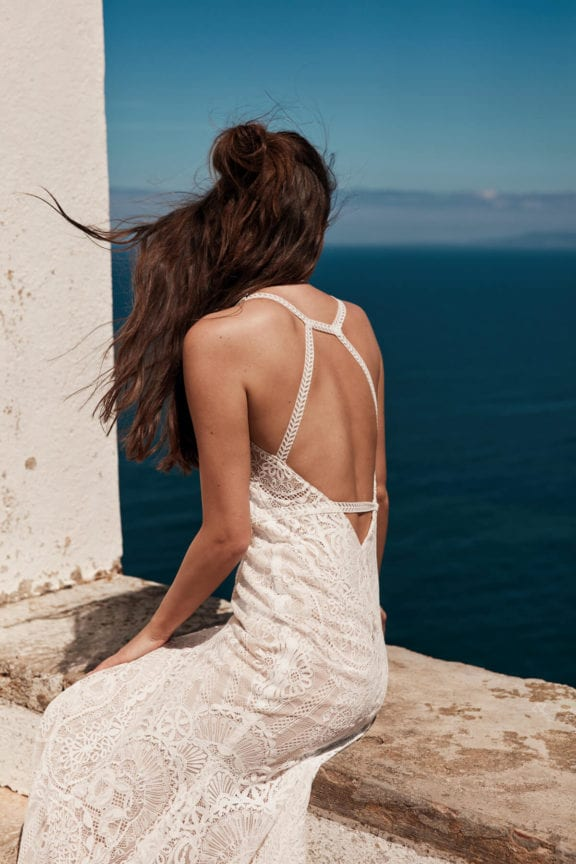anna kara georgina boho wedding dress with open back